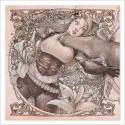 Chica tumbada y ciervo - Dibujo