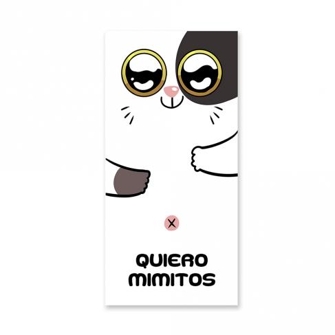 'Quiero mimitos' sports towel