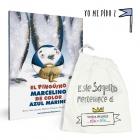 El Pingüino Marcelino + children cloth bag