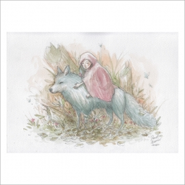 Niña lobo - Dani Alarcon's Original Painting