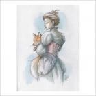 Mujer y zorro - Dani Alarcon's Original Painting