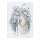 Mujer con cuervo - Dani Alarcon's Original Painting