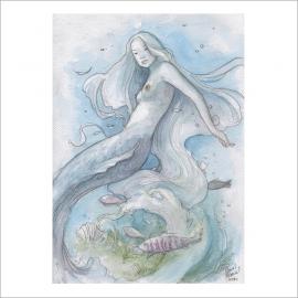 Sirena - Dani Alarcon's Original Painting