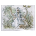 Chica con libro - Dani Alarcon's Original Painting