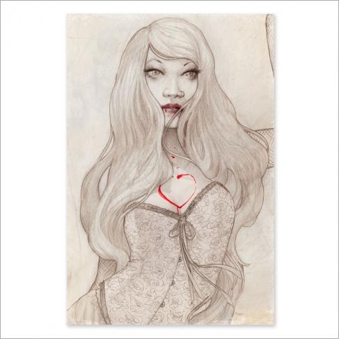 Bleeding love - Dibujo