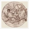 El tigre y la nieve - Dibujo