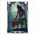 Hombre lobo y niña - Color