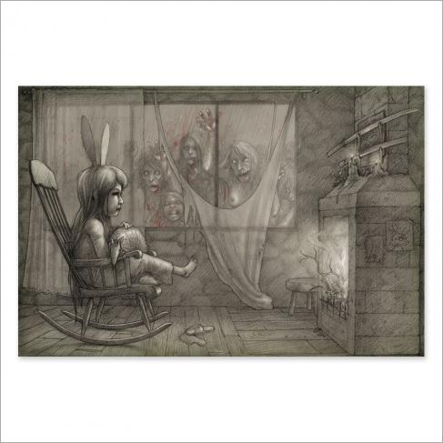 Niña zombie - Dibujo