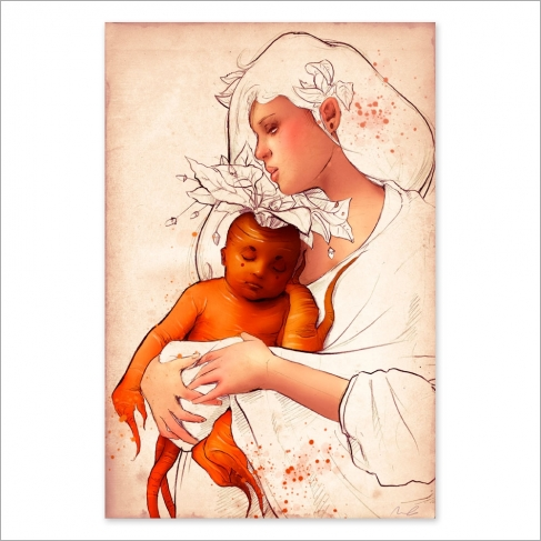 Bebé zanahoria - Dibujo y color