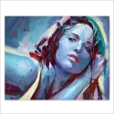 Blue girl 2 - Pintura