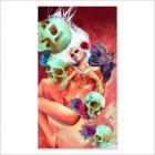 Girl and skulls tribal (Poster)
