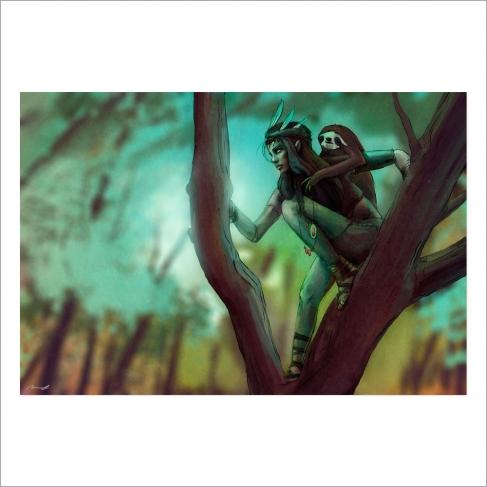 Elfa salva perezosos