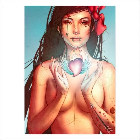 Tattoo girl in love