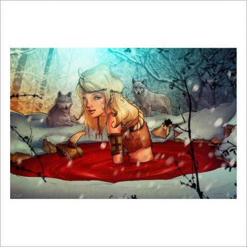 Vikinga en el baño termal