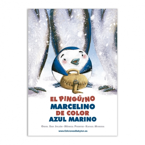 El pingüino Marcelino de color azul marino