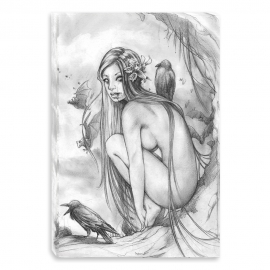Lost dark princess nude - pencil drawing (Canvas)