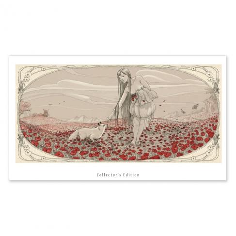 Flores muertas - Dibujo