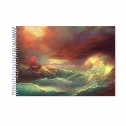 Boat in a storm (Notebook)
