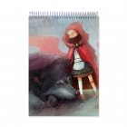 Little Red Riding Hood with wolf and blanket (Notebook)