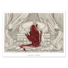 Sofá y galgos - Dibujo