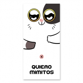 'Quiero mimitos' beach towel
