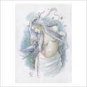 Mujer con cuervo - Original de Dani Alarcón