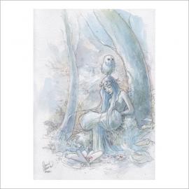 Chica y búho - Original de Dani Alarcón