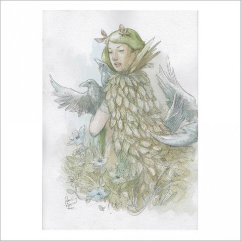 Capa de hojas - Dani Alarcon's Original Painting