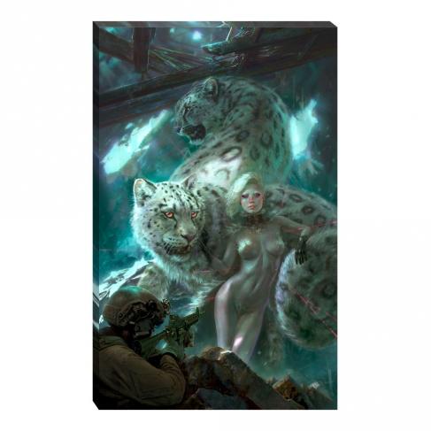 Snow leopard woman