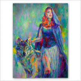 Blue Riding Hood - Original de Marta Nael