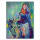 Blue Riding Hood - Marta Nael's Original Painting