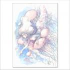 Acuarela Sirena con medusas - Original de Dani Alarcón