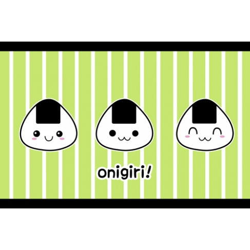Kawaii onigiri! green (Poster)