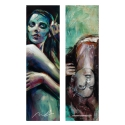 Blue morning and Skull girl (Bookmark)
