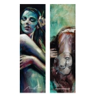 Blue morning and Skull girl (Bookmark)