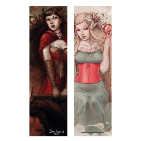 Clockwork heart and Sexy Caperucita (Bookmark)