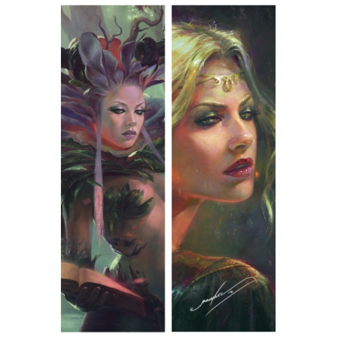 Elf y Forest Spirit (Bookmark)