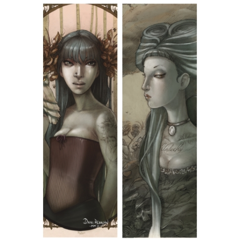Unlucky girl and Teeth (Bookmark)