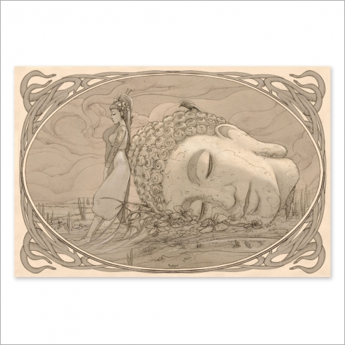 Buda drawing (Poster)