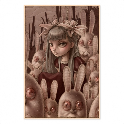 Bunnies from outer space - Color