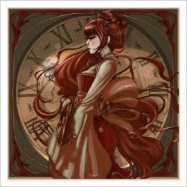 Geisha Steampunk colour (Poster)