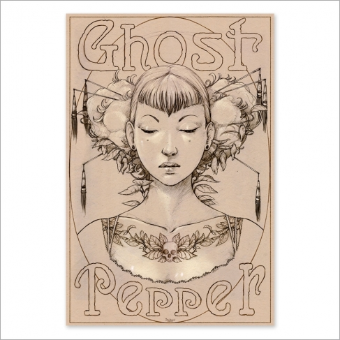 Ghost pepper drawing (Poster)