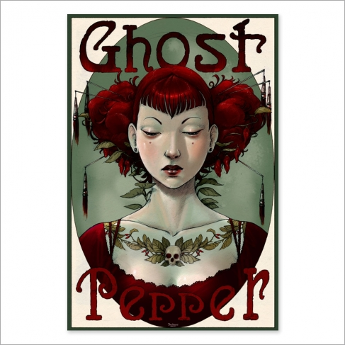 Ghost pepper colour (Poster)