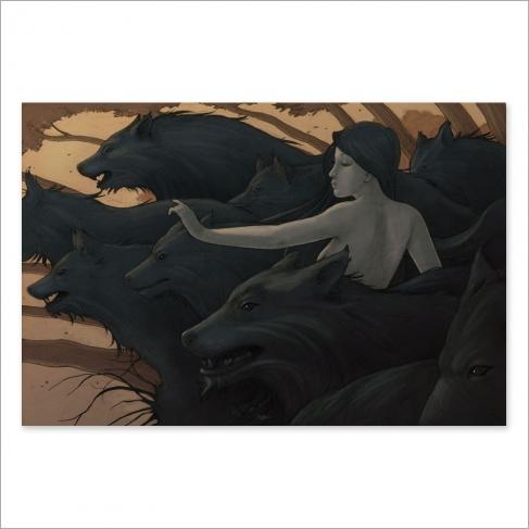 Wolves, colour (Poster)