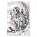 Lost dark princess - pencil drawing (Poster)