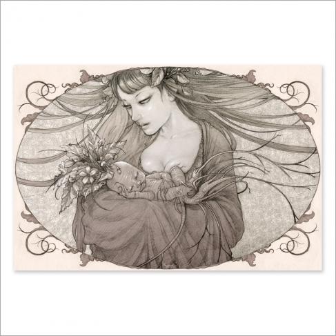 Mandrágora - Dibujo