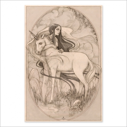 Unicorn drawing (Poster)