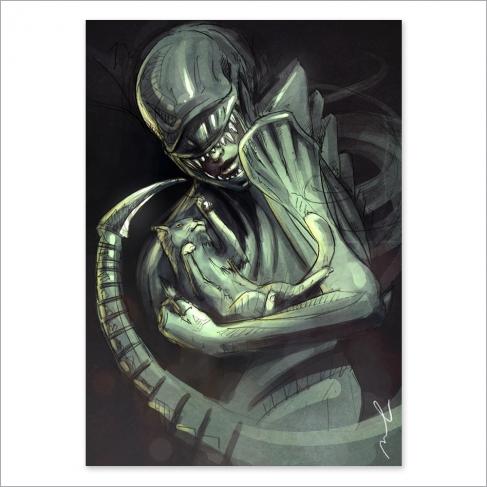 Alien vs Cat (Poster)