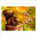 Bubble-blow squirrel (Poster)