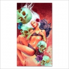 Girl and skulls (Poster)